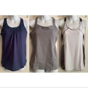 Athleta womens medium tank top lot of 3 workout